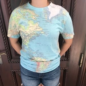 Urban Outfitters Map T-Shirt